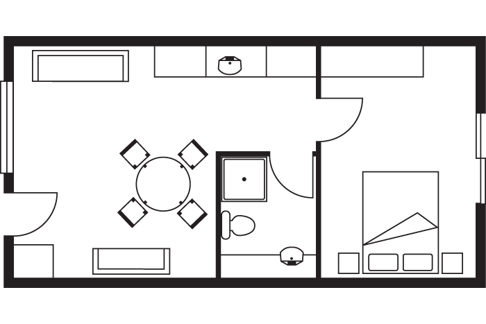 resort deluxe suite room layout