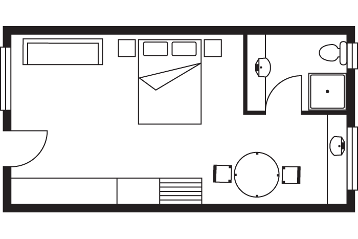 resort studio suite room layout